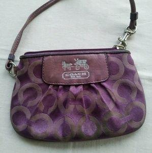 Lavender coach wristlet wallet